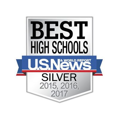 U.S. News Best High Schools – Silver 2015, 2016, 2017