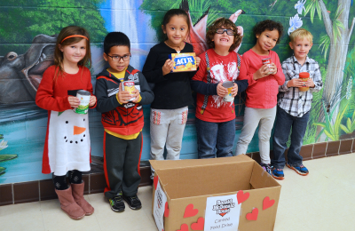 Mary D. Lang Kindergarten Center hosted a Canned Food Drive to benefit the Ronald McDonald House of Delaware.