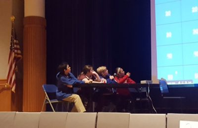 "A friendly game-show-inspired competition called ""Are You Smarter Than a Seventh Grade Teacher?"" raised money for Adopt-A-Family."