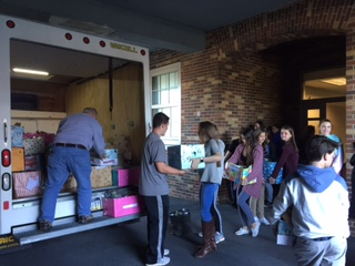 The Humanitarian Club collected more than 3,000 pounds of food and donated more than $500 to the Kennett Food Cupboard.